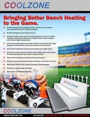 Heating Bench | Sports Misting