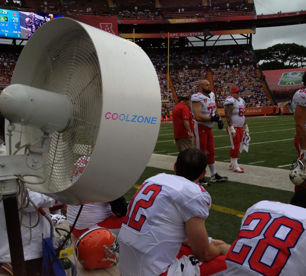 How Misting Fans were Introduced to the NFL and NCAA football sideline